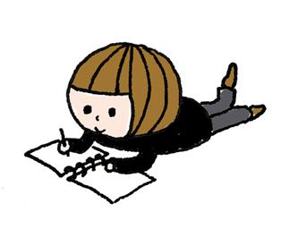 絵を描く女の子のイラスト
