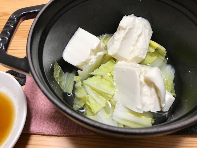 ストウブで白菜鍋
