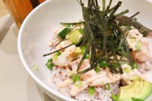 カフェソラーレ 海老アボカドの明太丼