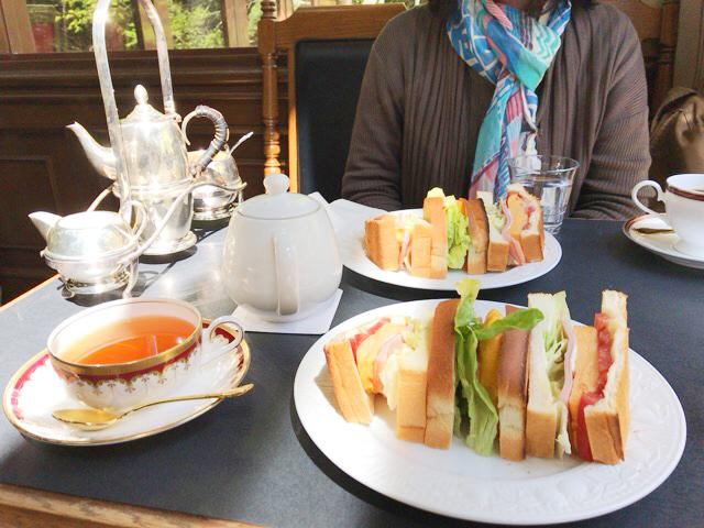 山本珈琲館のサンドイッチ