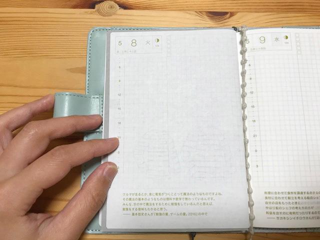 ほぼ日手帳の下敷きを自作