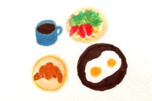 朝ごはんイラスト