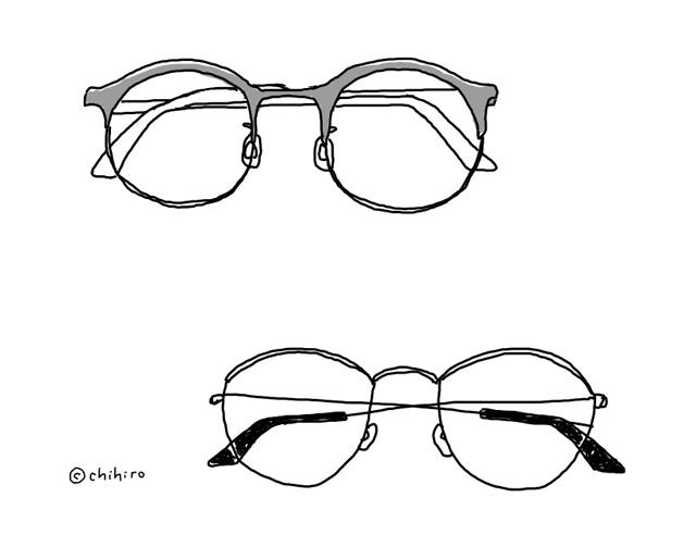 iPad Pro イラストメガネ