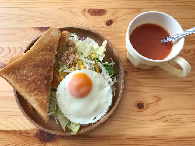 カフェ風朝ごはん