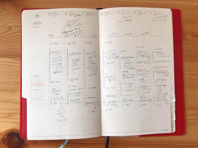ハイタイドのバーチカル手帳