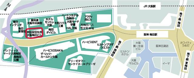 梅田の地図