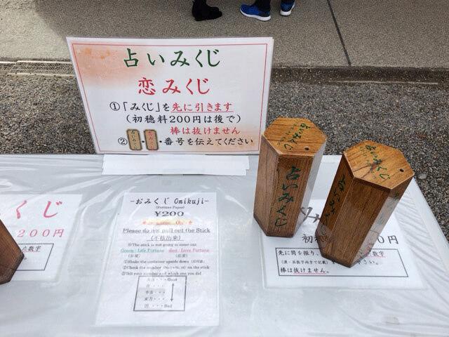 八坂神社のおみくじ